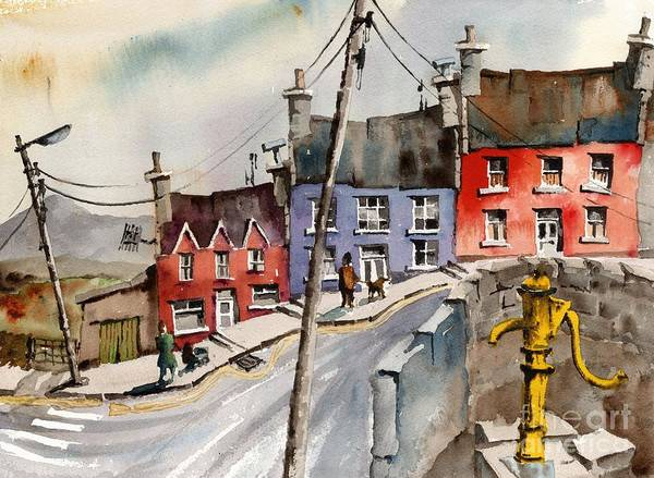 Painting - The Yellow Pump, Eyeries, Cork by Val Byrne