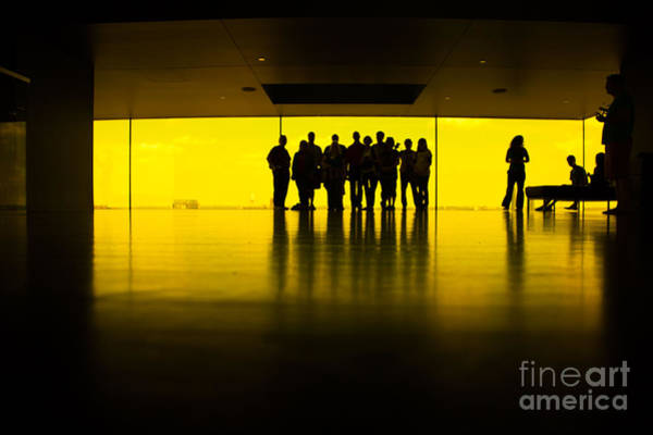 Wall Art - Photograph - The Yellow Room Guthrie Theater Minneapolis  by Wayne Moran