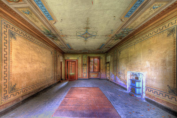 Photograph - The Yellow Room Of The Villa With The Colored Rooms by Enrico Pelos