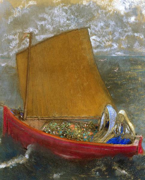 Pastel - The Yellow Sail by Odilon Redon