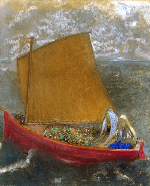 Painting - The Yellow Sail by Odilon Redon