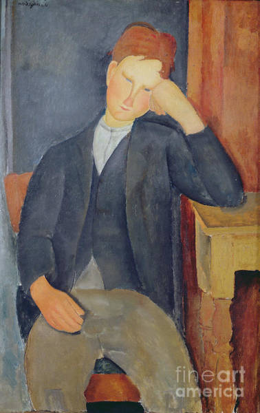 1918 Painting - The Young Apprentice by Amedeo Modigliani