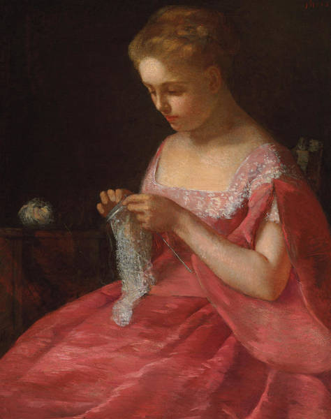 Mending Painting - The Young Bride by Mary Stevenson Cassatt