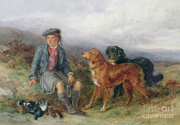 Wall Art - Painting - The Young Ghillie, 1871 by James Hardy Jnr