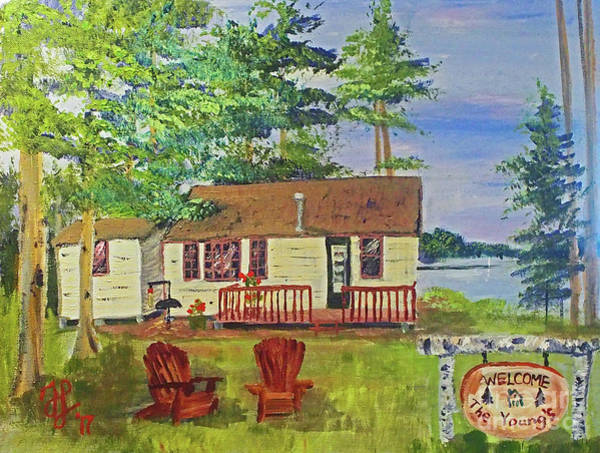 Painting - The Young's Camp by Francois Lamothe