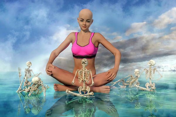 Wall Art - Digital Art - The Zen Girl by Betsy Knapp