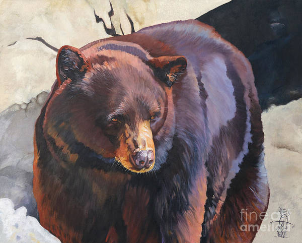 Painting - The Zen Of Being Bear by J W Baker