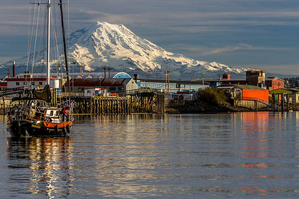 Photograph - Thea Foss Waterway And Rainier 1 by Rob Green