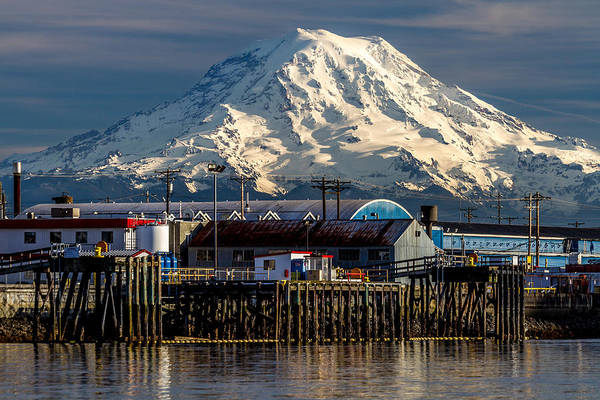 Photograph - Thea Foss Waterway And Rainier 2 by Rob Green