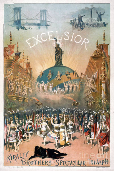 Photograph - Theater Poster: Excelsior by Granger