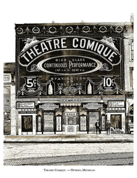 History Drawing - Theatre Comique by Greg Joens
