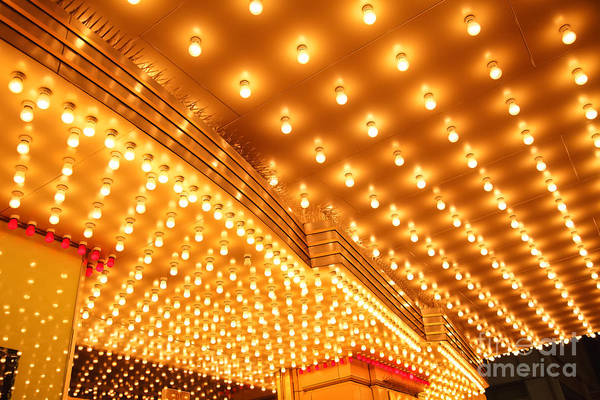 Wall Art - Photograph - Theatre Entrance Marquee Lights by Paul Velgos