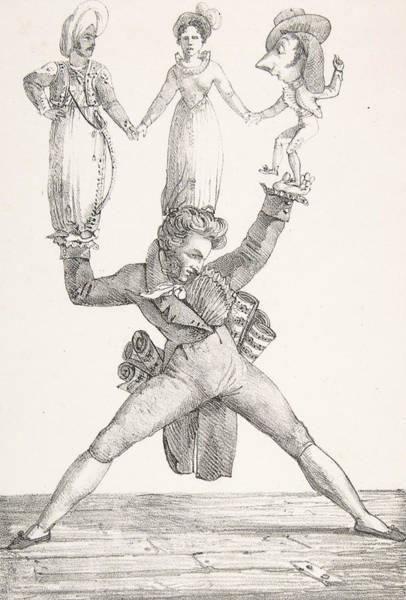 Relief - Theatre Italien by Eugene Delacroix