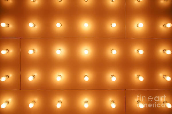 Wall Art - Photograph - Theatre Lights Pattern Picture by Paul Velgos