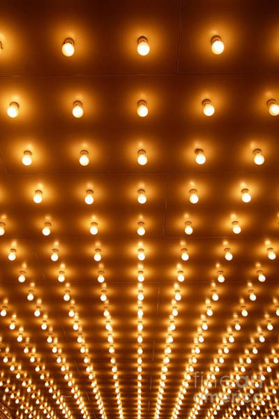 Wall Art - Photograph - Theatre Marquee Sign Lights At A Theater by Paul Velgos