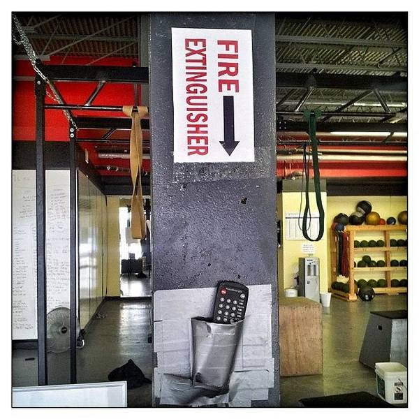 Workout Wall Art - Photograph - #thebox  #fireextinguisher #gym by Woof Glaser