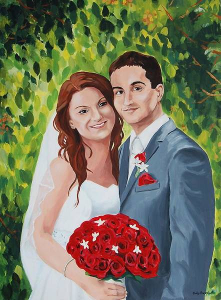 Wall Art - Painting - Their Wedding Day by Judy Swerlick
