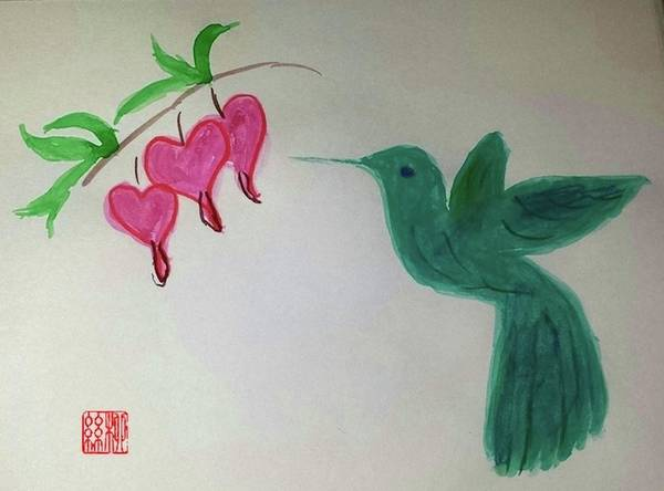 Painting - The Joy Of Hummingbird by Margaret Welsh Willowsilk