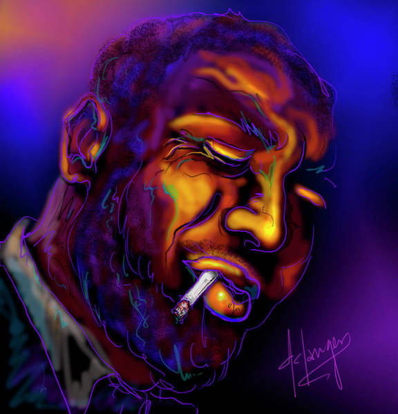 Painting - Thelonious My Old Friend by DC Langer