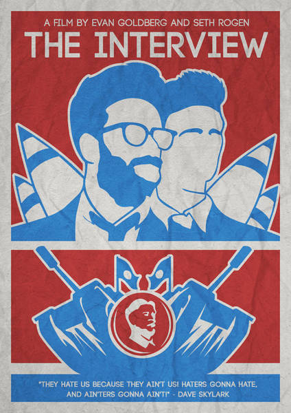 Painting - Theminimalist Movie Poster- The Interview by Celestial Images