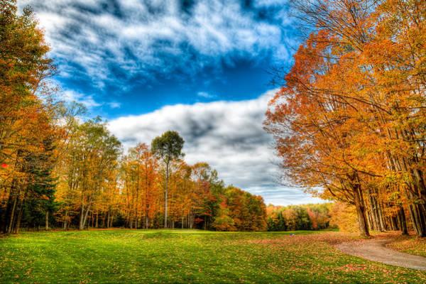 Photograph - Thendara Golf Course - Autumn Landscape 3 by David Patterson