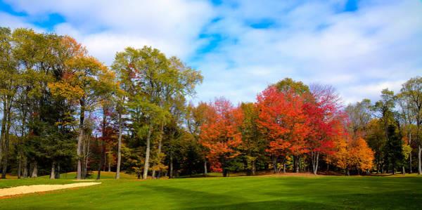 Photograph - Thendara Golf Course - Autumn Landscape 7 by David Patterson