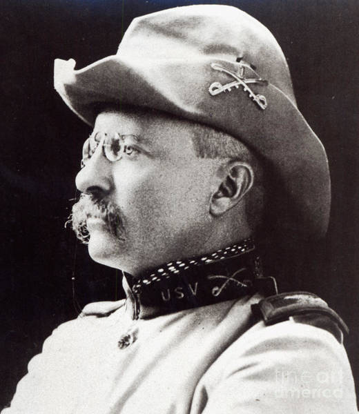 Volunteer Wall Art - Photograph - Theodore Roosevelt As Lieutenant-colonel Of 1st Us Volunteer Cavalry In 1898 by American School
