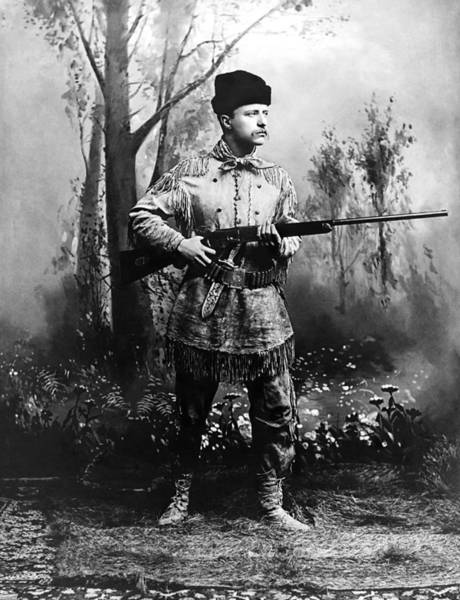 Wall Art - Photograph - Theodore Roosevelt - Hunting Portrait by War Is Hell Store