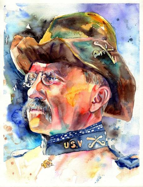 Souvenirs Painting - Theodore Roosevelt Painting by Suzann Sines