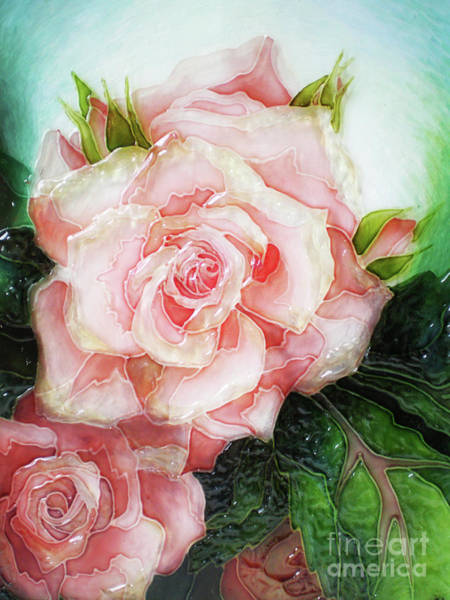 Vitrage Wall Art - Painting - There Is A Rose In Spanish Harlem by Kseniia Chorna