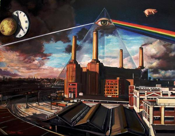 Pink Floyd Painting - There Is No Dark Side Of The Moon Really by Andrey Khalturin