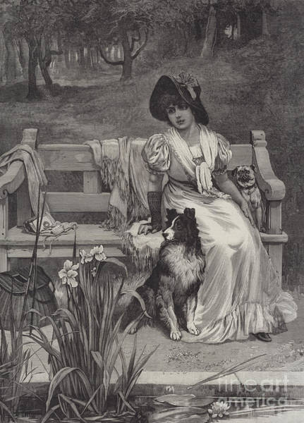Quaint Drawing - There Is Room For Two by Frederick Morgan