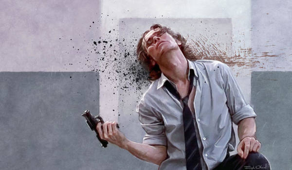 Willem Dafoe Wall Art - Painting - There Was A Firefight - The Boondock Saints by Joseph Oland