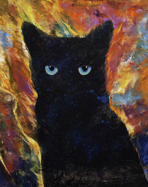Wall Art - Painting - Little Ninja by Michael Creese