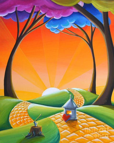 Yellow Brick Road Wall Art - Painting - There's No Place Like Home by Cindy Thornton