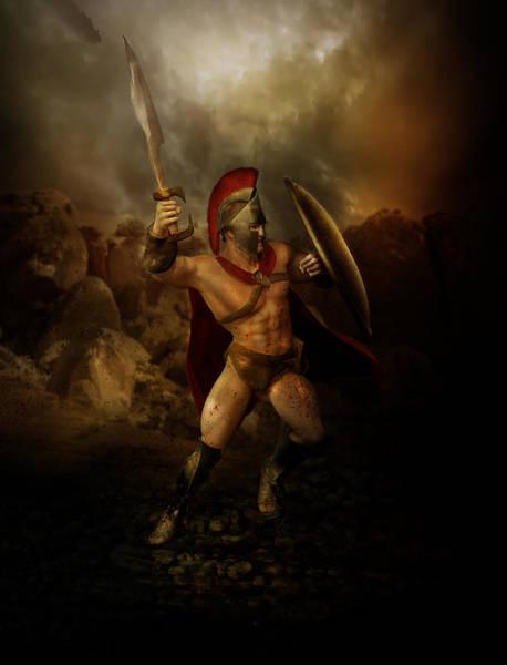Spartan Wall Art - Digital Art - Thermopalyae by Karen Koski