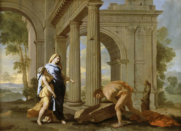 Painting - Theseus Finds His Father's Sword by Nicolas Poussin