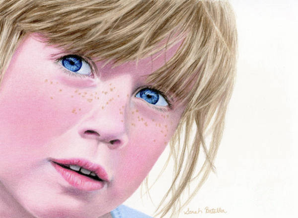 Freckle Drawing - They Call Her Freckles by Sarah Batalka