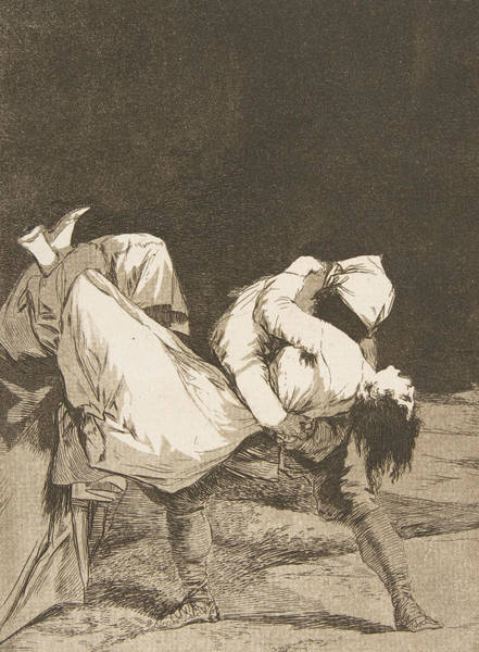 Relief - They Carried Her Off by Francisco Goya