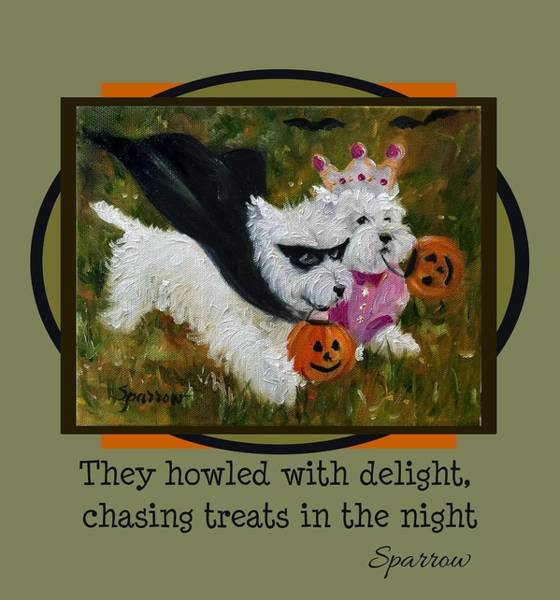 Novelties Painting - They Howled With Delight by Mary Sparrow