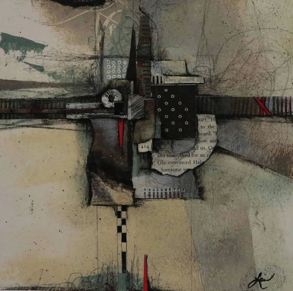 Triangle Mixed Media - They Pushed By  by Laura Lein-Svencner