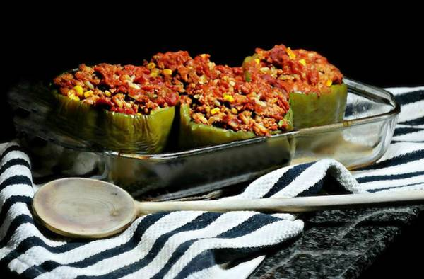 Wall Art - Photograph - Stuffed Green Peppers by Diana Angstadt