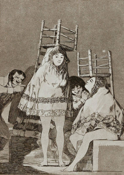 Painting - They've Already Got A Seat by Francisco Goya