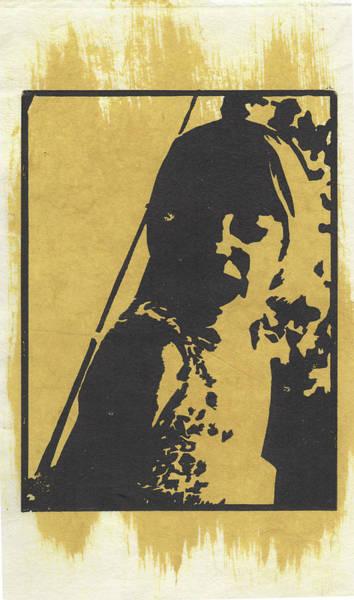 Drawing - Thia, Yellow by Erik Paul