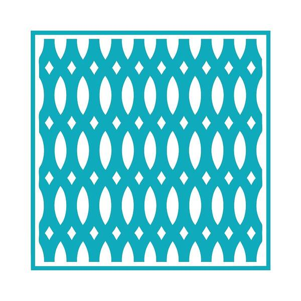 Robin's Egg Blue Digital Art - Thick Curved Trellis With Border In Robin's Egg Blue by Custom Home Fashions