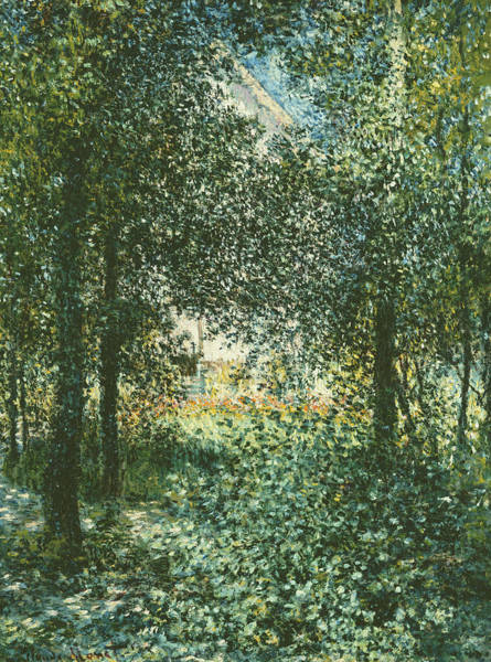Wall Art - Painting - Thicket  The House Of Argenteuil by Claude Monet