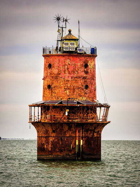 Screw Pile Wall Art - Photograph - Thimble Shoal Light by Eleanor Ivins