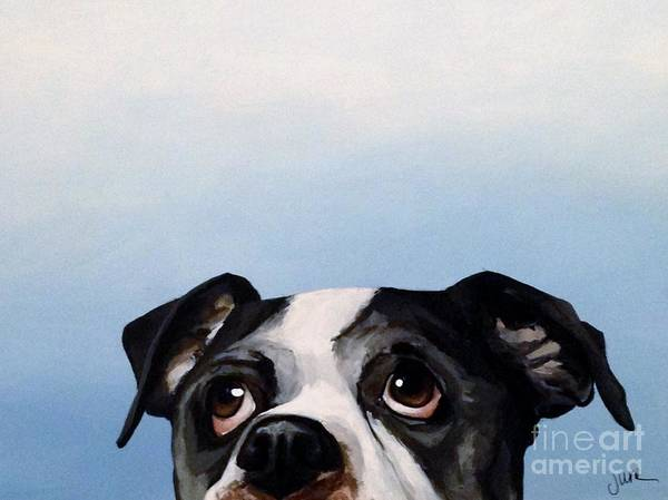 Black Great Dane Painting - Things Are Looking Up by June Huff