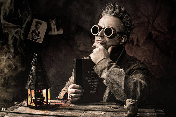 Scientists Wall Art - Photograph - Things To Consider - Steampunk - World Domination by Gary Heller