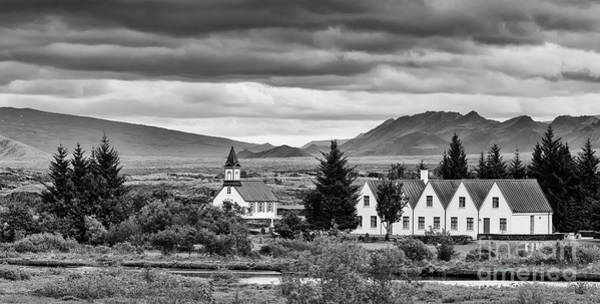 Famous Cemeteries Photograph - Thingvallakirkja Church In Thingvellir N.p. by Henk Meijer Photography
